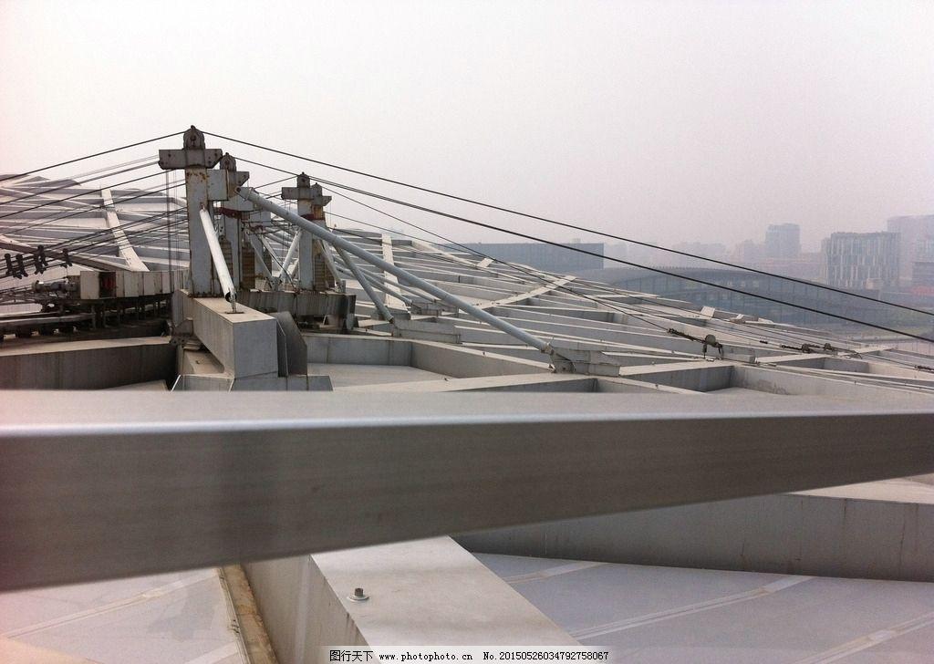 鸟巢顶部 北京 内部 结构 钢结构 风景 摄影 建筑景观