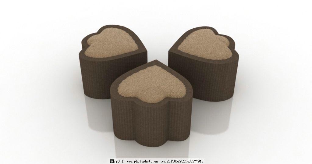 动物脚印 凳子 软包 创意 可爱 设计 3d设计 展示模型 max