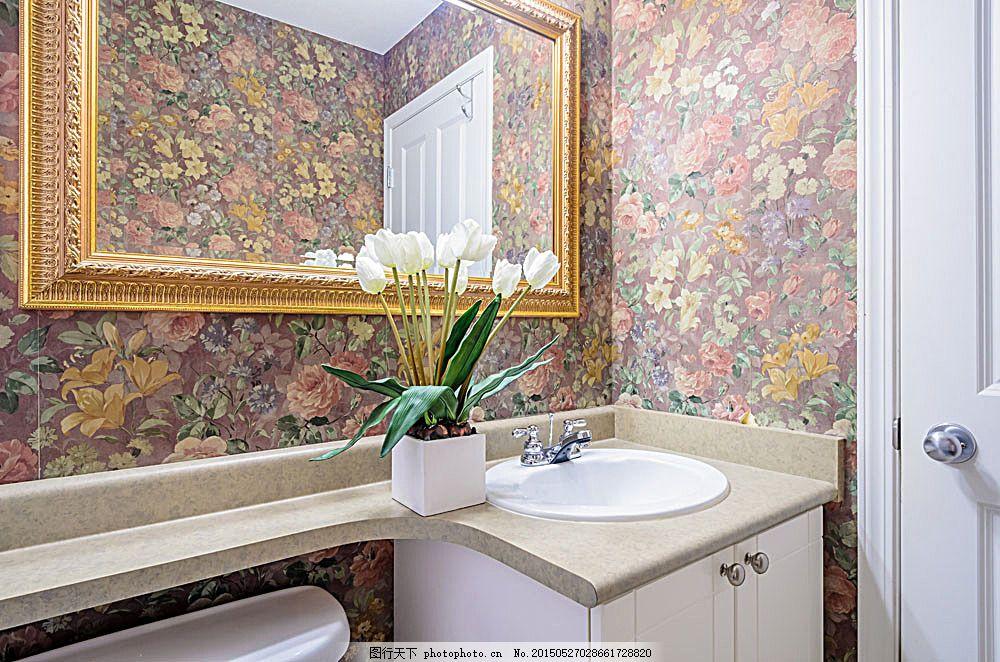复古欧式洗手间效果图,欧式风格 卫生间 装修图 设计