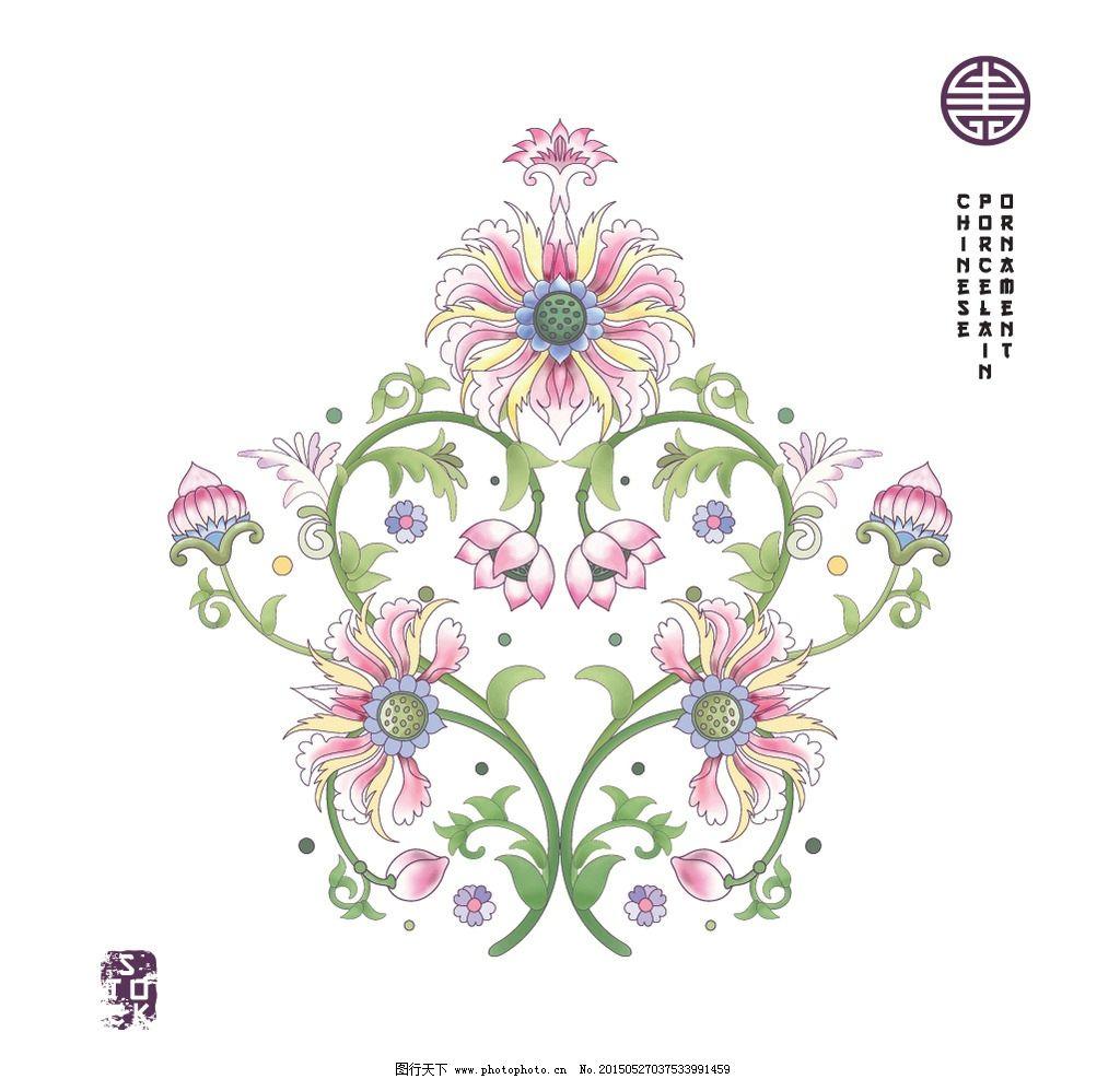 中式花纹图片 (1024x987)-中国古代中式花朵花纹