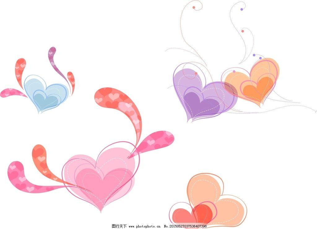 可爱 可爱卡通 创意 卡通心形 手绘心形 心形图案 心形图形 心形素材