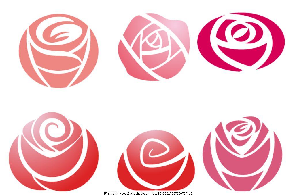 手绘玫瑰花 卡通花 矢量素材 花 卡通 插画 粉色 花卉 植物 爱情 玫瑰