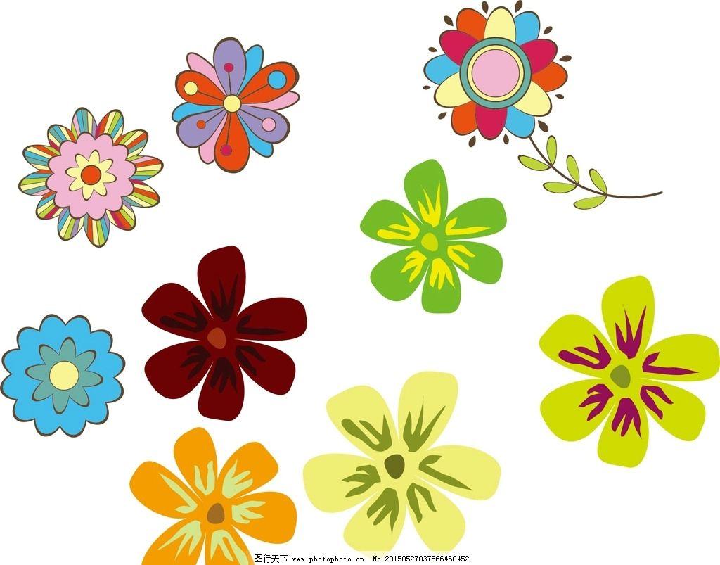 手绘花朵 卡通图片