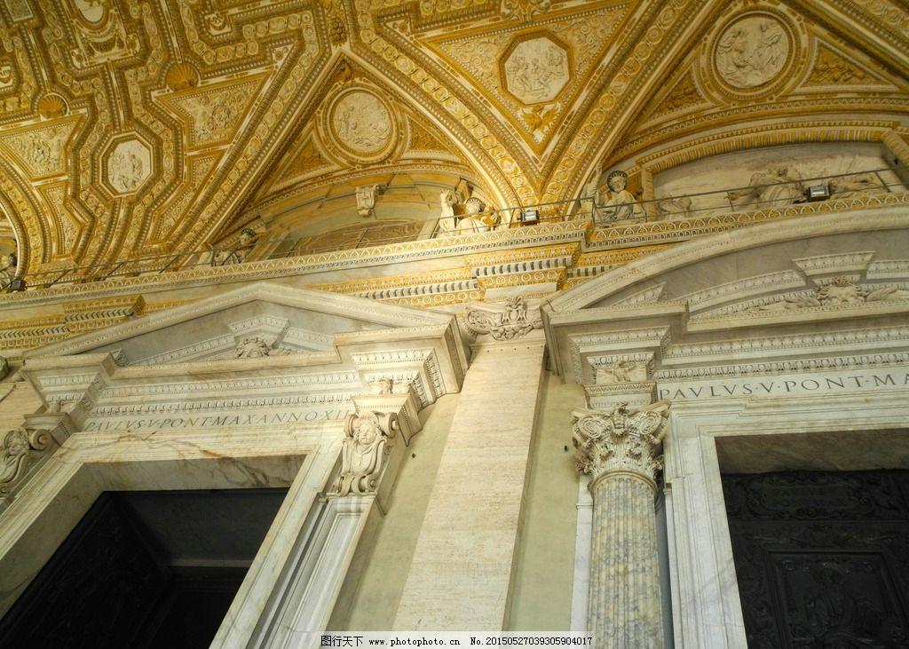 石柱 园柱 建筑 西欧建筑 欧洲壁画 卢浮宫 法国卢浮宫 宫殿 皇宫图片