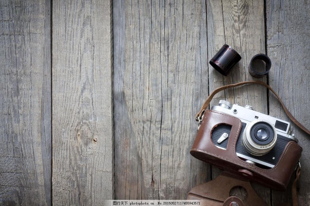 木板与相机 木板与相机图片 复古 老式相机 复古背景 其他类别图片