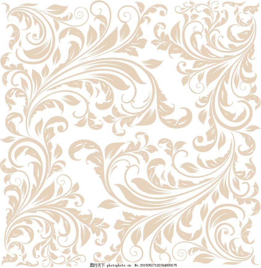 欧式花纹 古典 花叶 唯美 白色