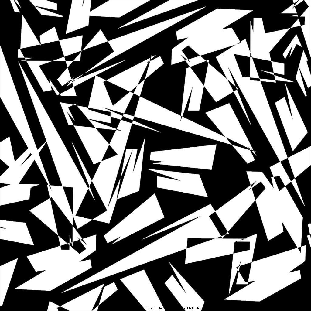 几何图 三角形 几何背景 黑白素材 黑白背景 psd 黑色