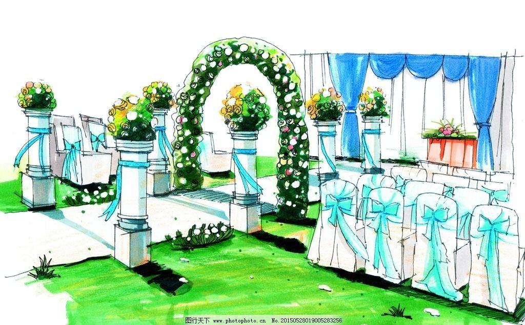 婚礼手绘图片