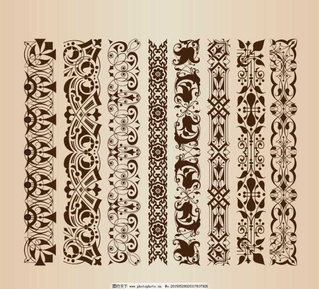 欧式复古花纹花边图片