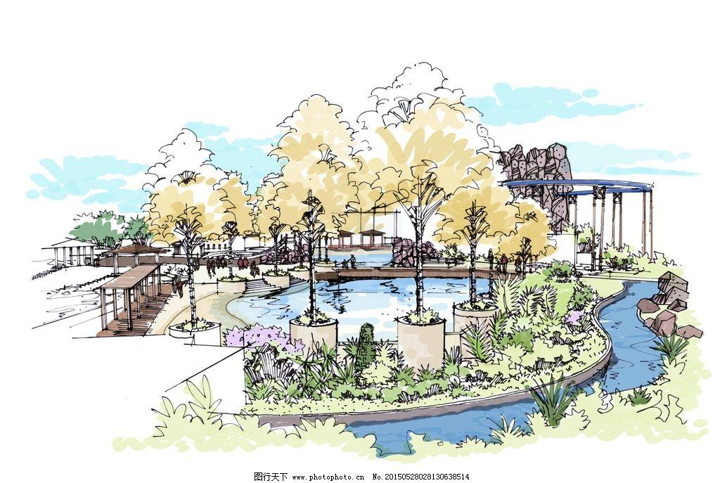 手绘 总平面 景观设计 环境艺术        水上乐园 设计 环境设计 景观
