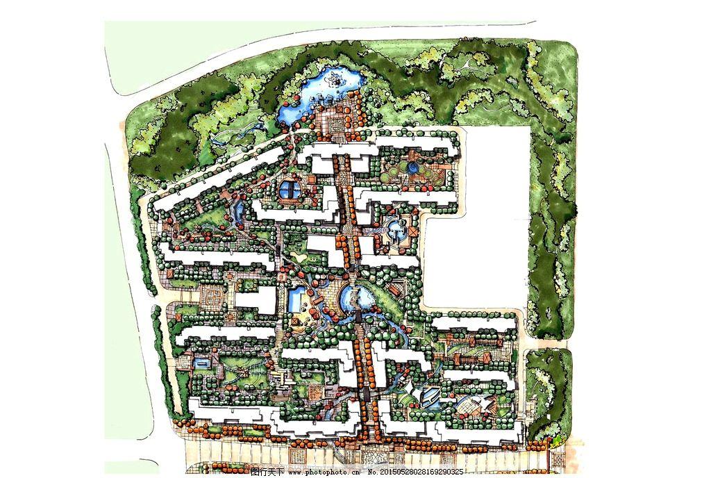手绘 总平面 景观设计 环境艺术 高清 设计 环境设计 景观设计 120dpi