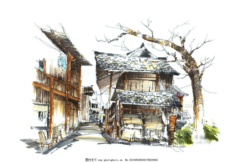 云南 旅游 实习 写生 手绘 校稿 马克笔 风景 景观 园林 环境 艺术