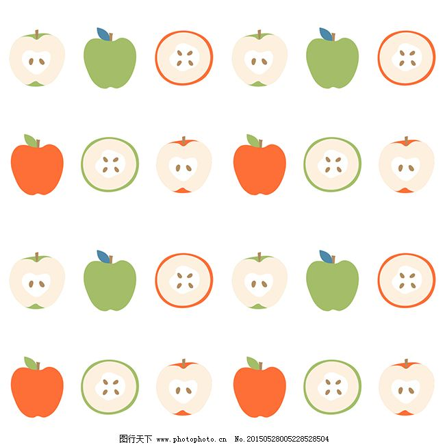 卡通水果背景矢量图