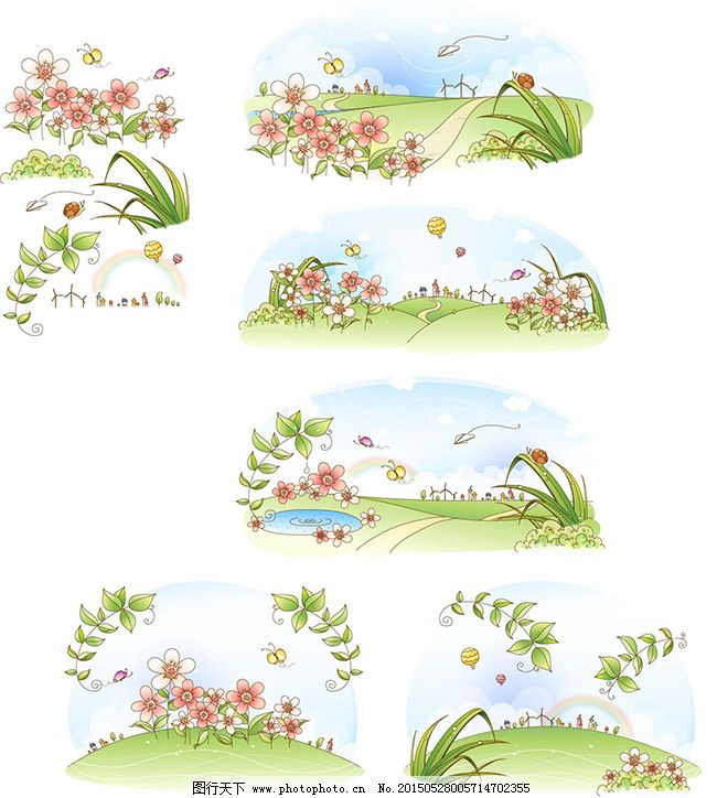 植物背景素材矢量图