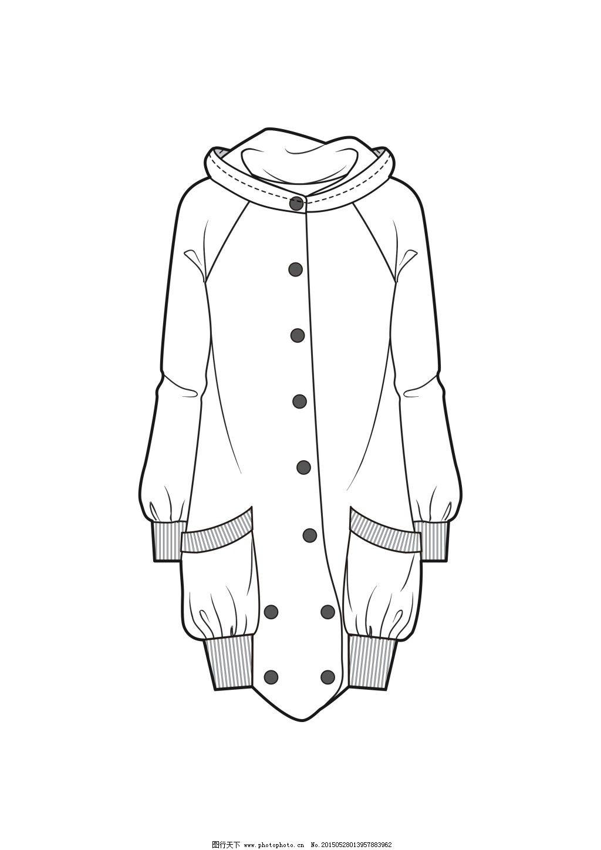 服装款式免费下载 风衣 款式图 设计图 矢量图 外套 风衣 款式图 矢量