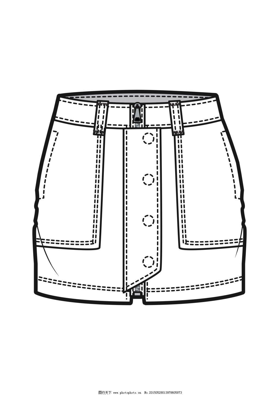 裤子款式图