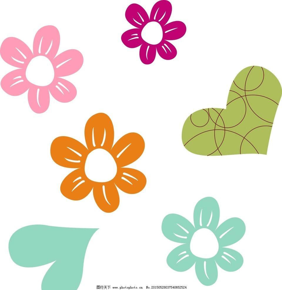 花朵 卡通素材图片