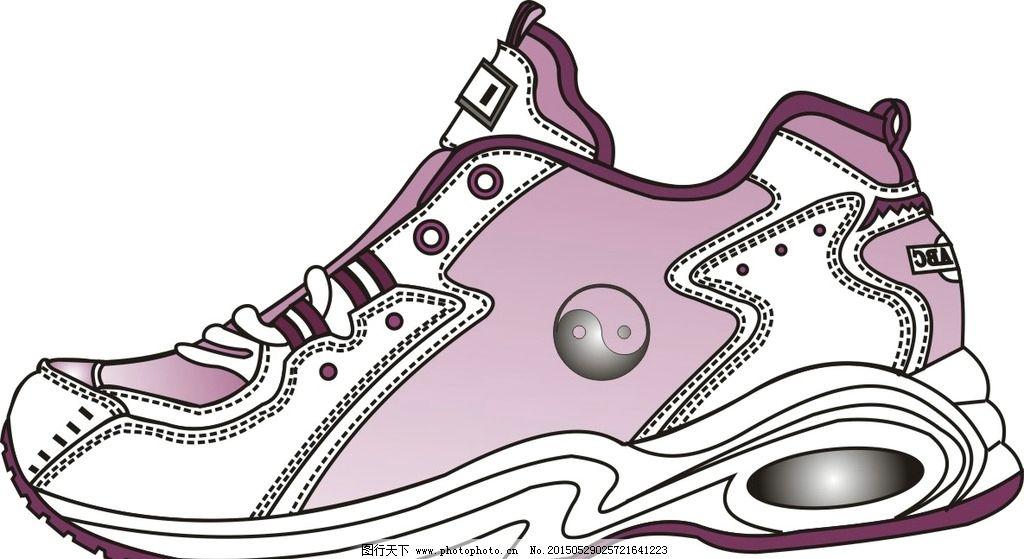 运动鞋效果图设计图片