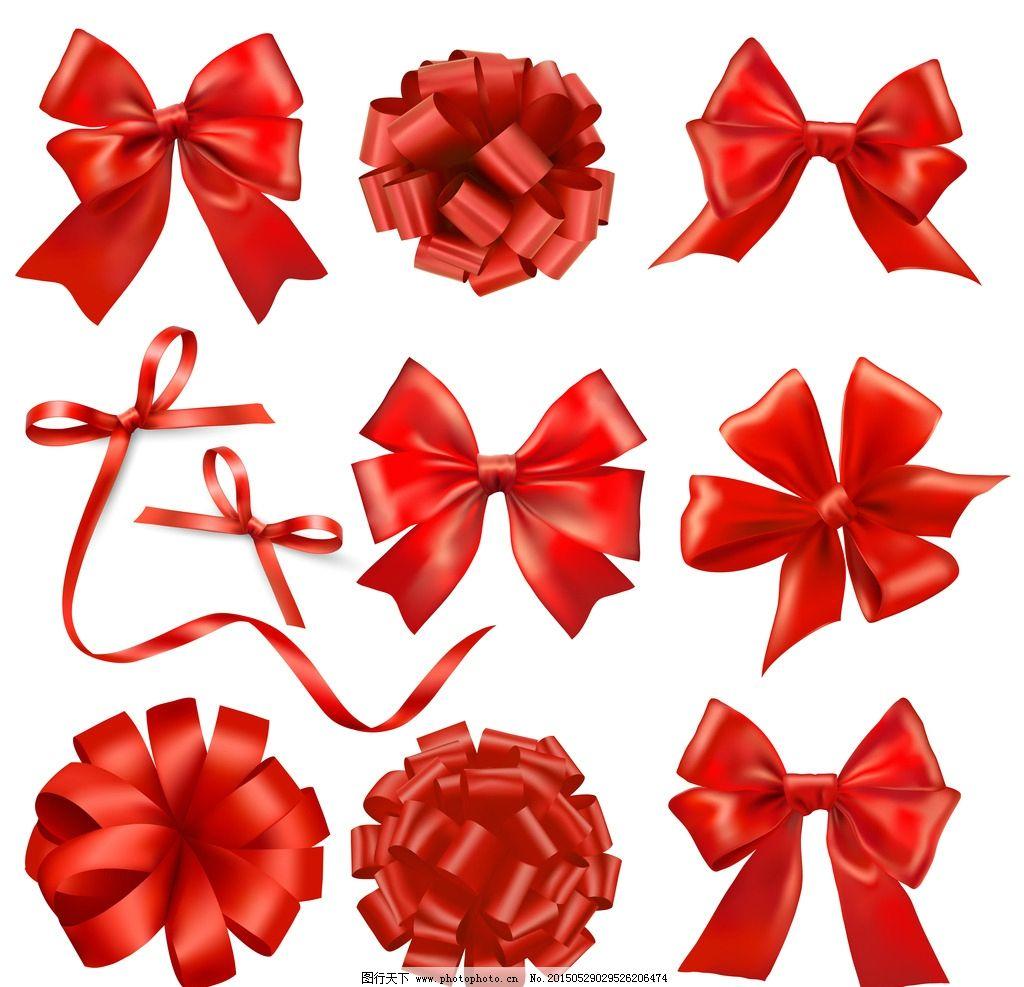 丝带 蝴蝶节 红丝带 红花朵 红蝴蝶节 设计 广告设计 广告设计 200dpi