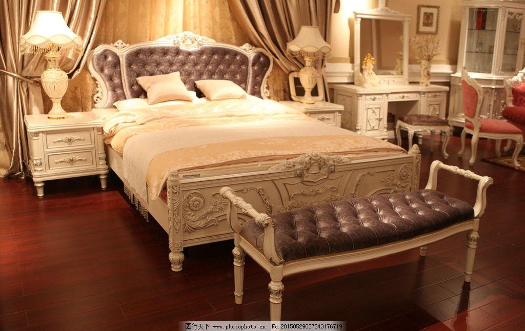 床头柜 实木家具 酒店家具 家具套房家具 欧式风格 美式家具 国外家居