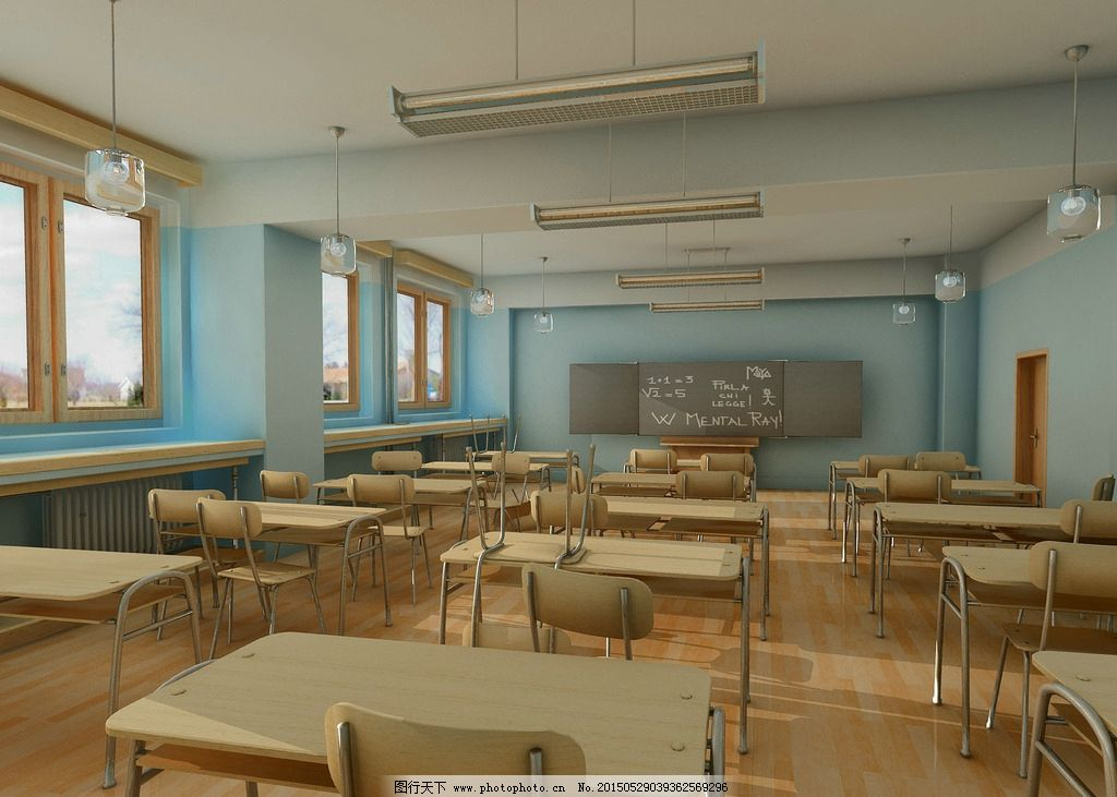 关于教室的�9�.�*_教室图片