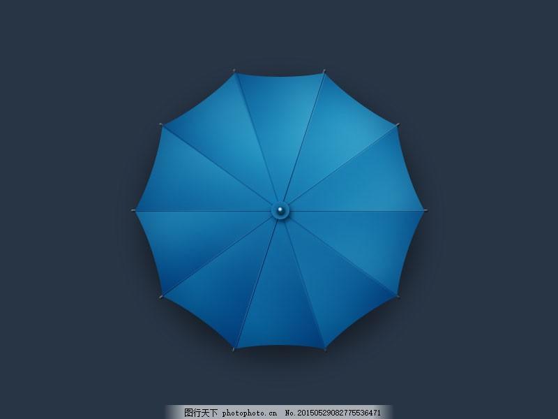 雨伞渐变成猫手绘图片