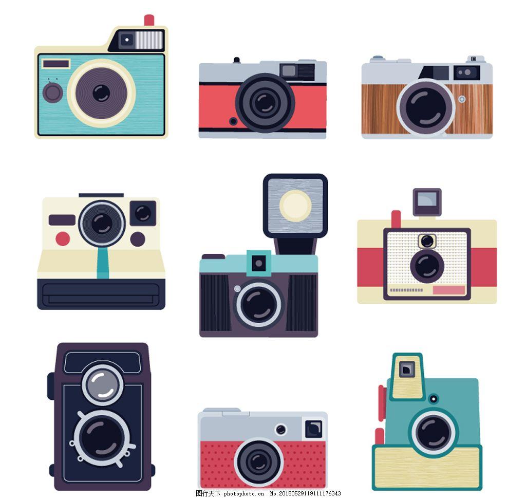 彩色照相机设计矢量图 彩色 照相机 设计 矢量图 相机 cdr 白色 cdr