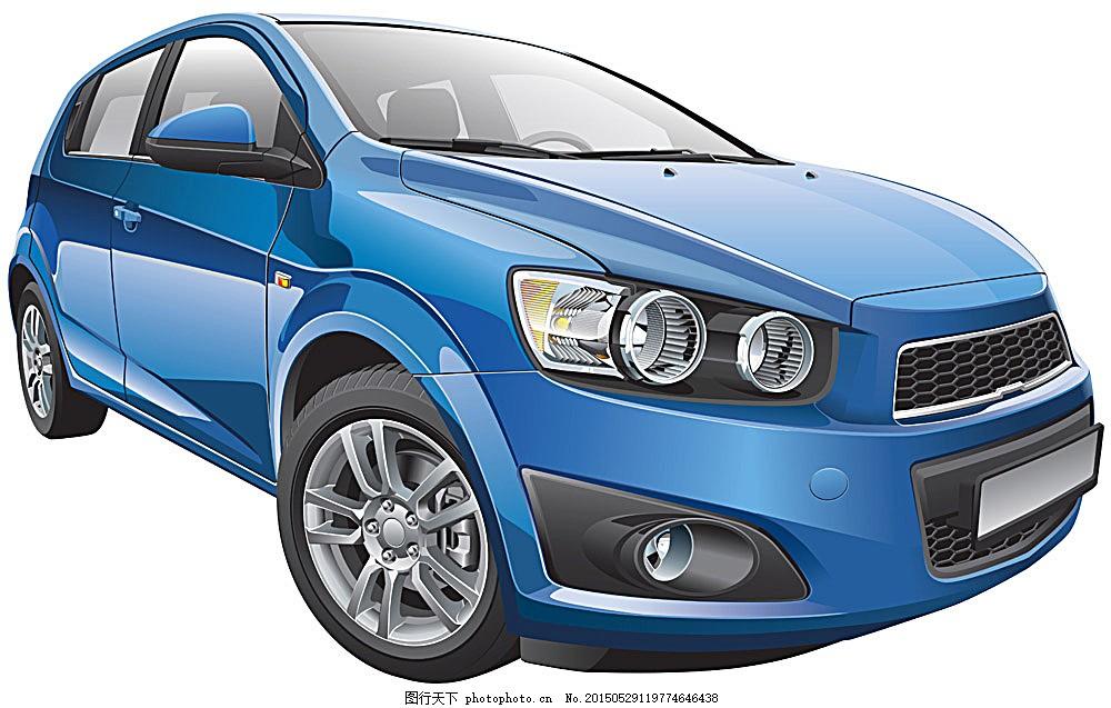 蓝色矢量汽车 蓝色 汽车 矢量汽车 交通工具 现代科技 矢量素材 eps