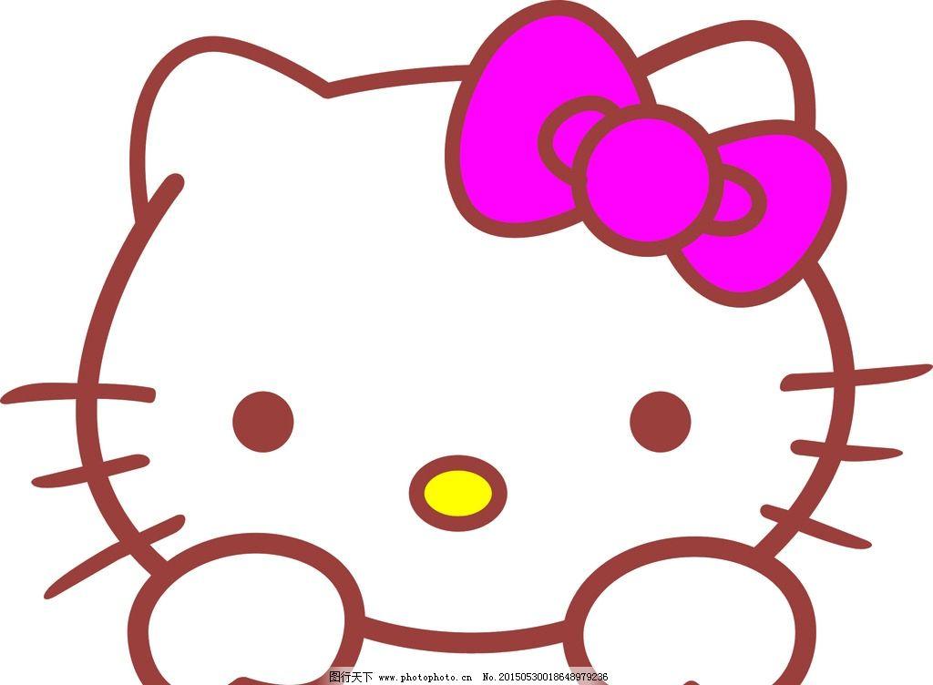 猫头 小猫 卡通 蝴蝶结 猫猫 设计 动漫动画 其他 cdr