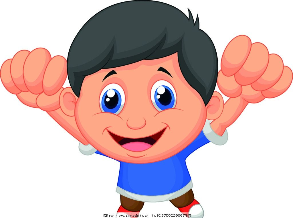 卡通儿童 小学生 儿童 手绘 小男孩 插画 快乐儿童 儿童绘画 幼儿