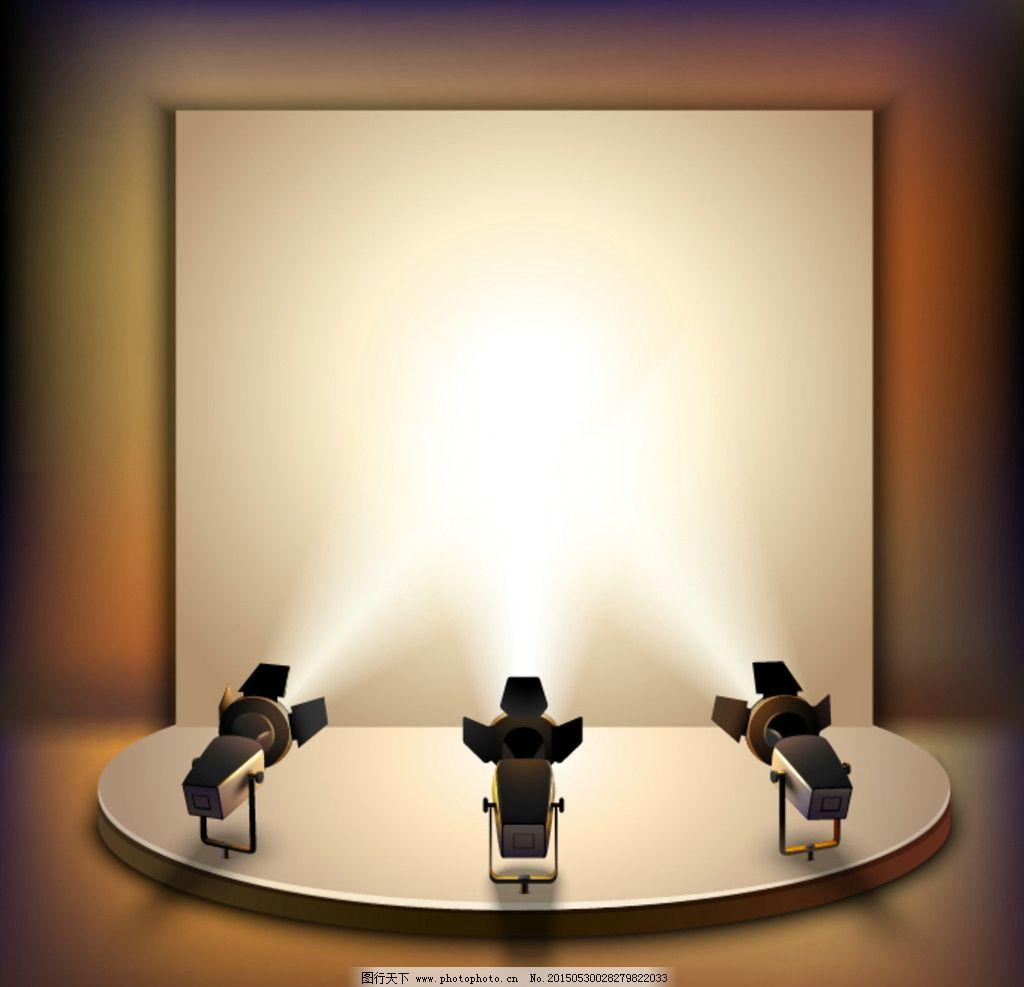 展台 木地板 吊灯 灯具 白色 室内 舞台 圆台 设计 环境设计 展览设计