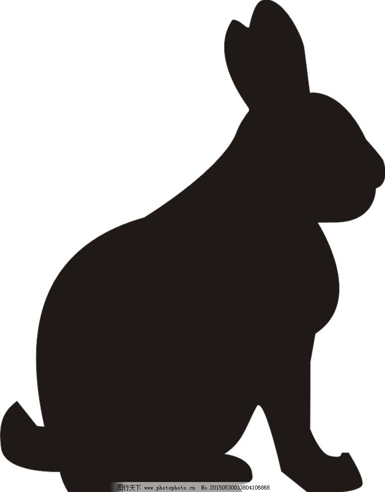 兔子挖洞  手绘黑白