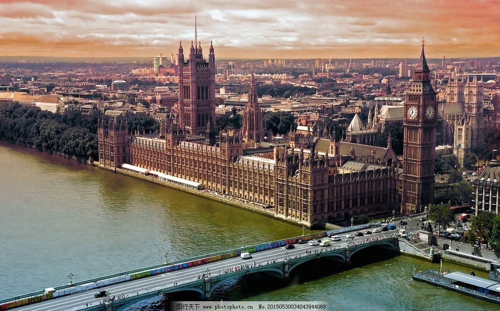 英国伦敦塔楼桥梁建筑图片
