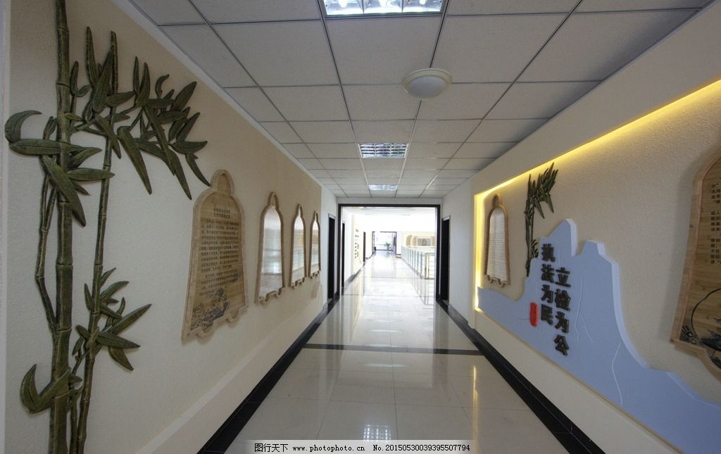 室内装饰 走廊文化 过道文化 企业文化墙 文化艺术墙 竹子 雕塑 青铜