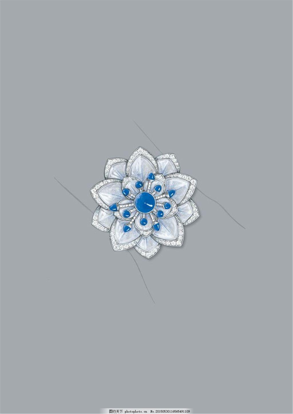 手绘珠宝广告设计