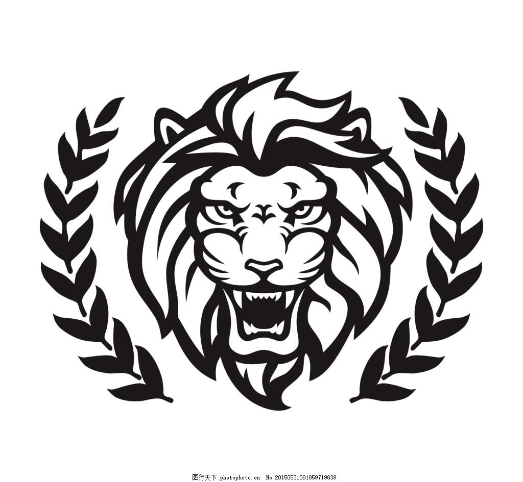 动物 花纹图案 其他 生活百科 狮子头 时尚图案 矢量素材 矢量图案