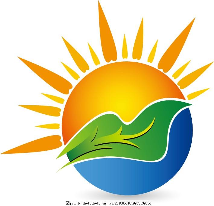 logo设计 eps eps 矢量 曲线 线条 彩色 色块 图标 标志 太阳 农田