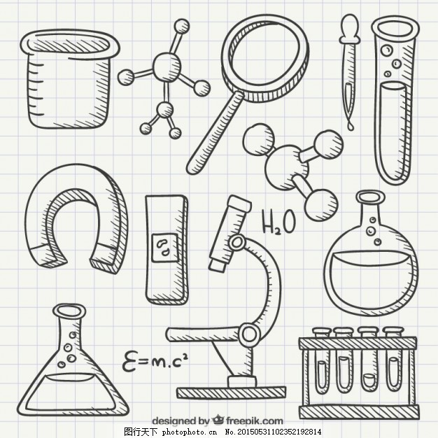 医疗 图标 手绘 科学 涂鸦 化学实验室 手形图标 图标绘制 医学 调查