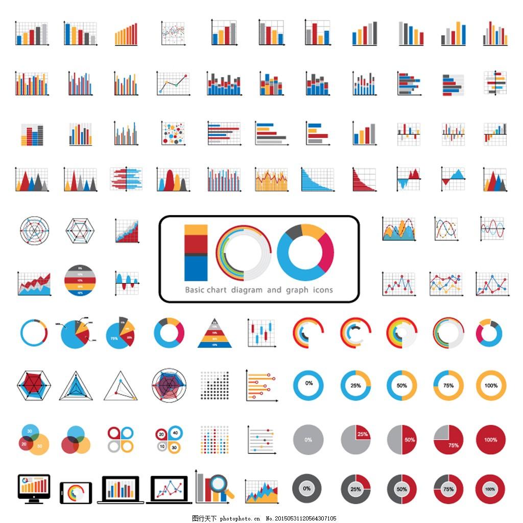 基础图表和图形图标图片
