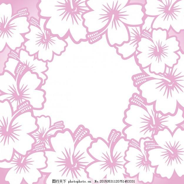 设计图库 设计元素 纹理边框  手绘花架 婚礼 年份 框架 花 夏 手