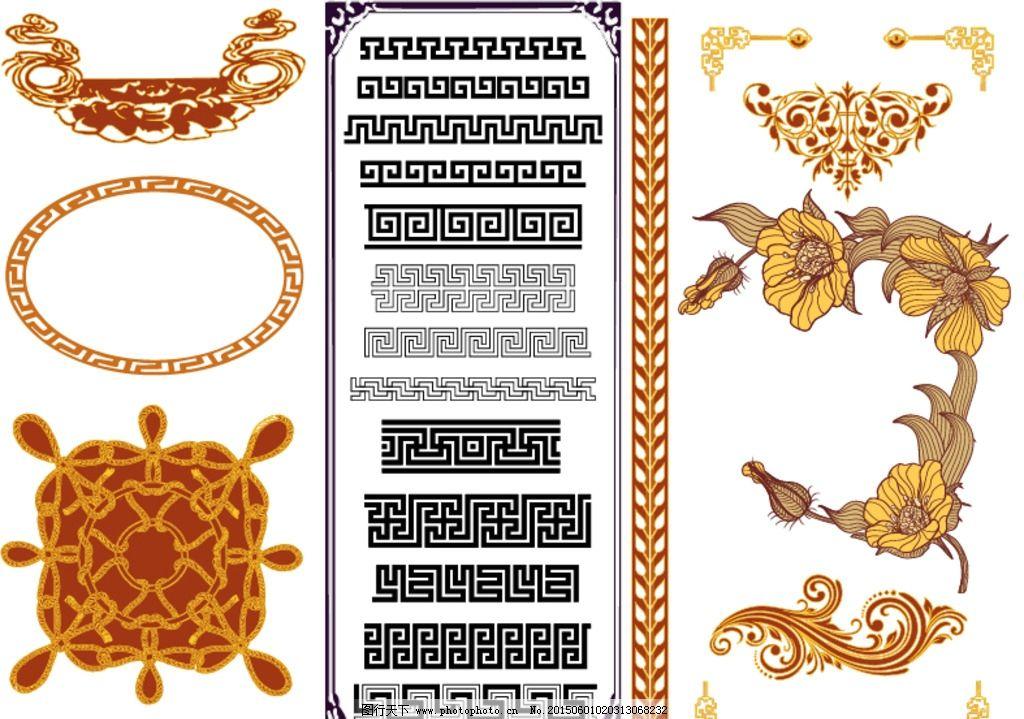 矢量黑白花纹 潮流 精美 线条 欧式金色花纹 设计 底纹边框 花边花纹