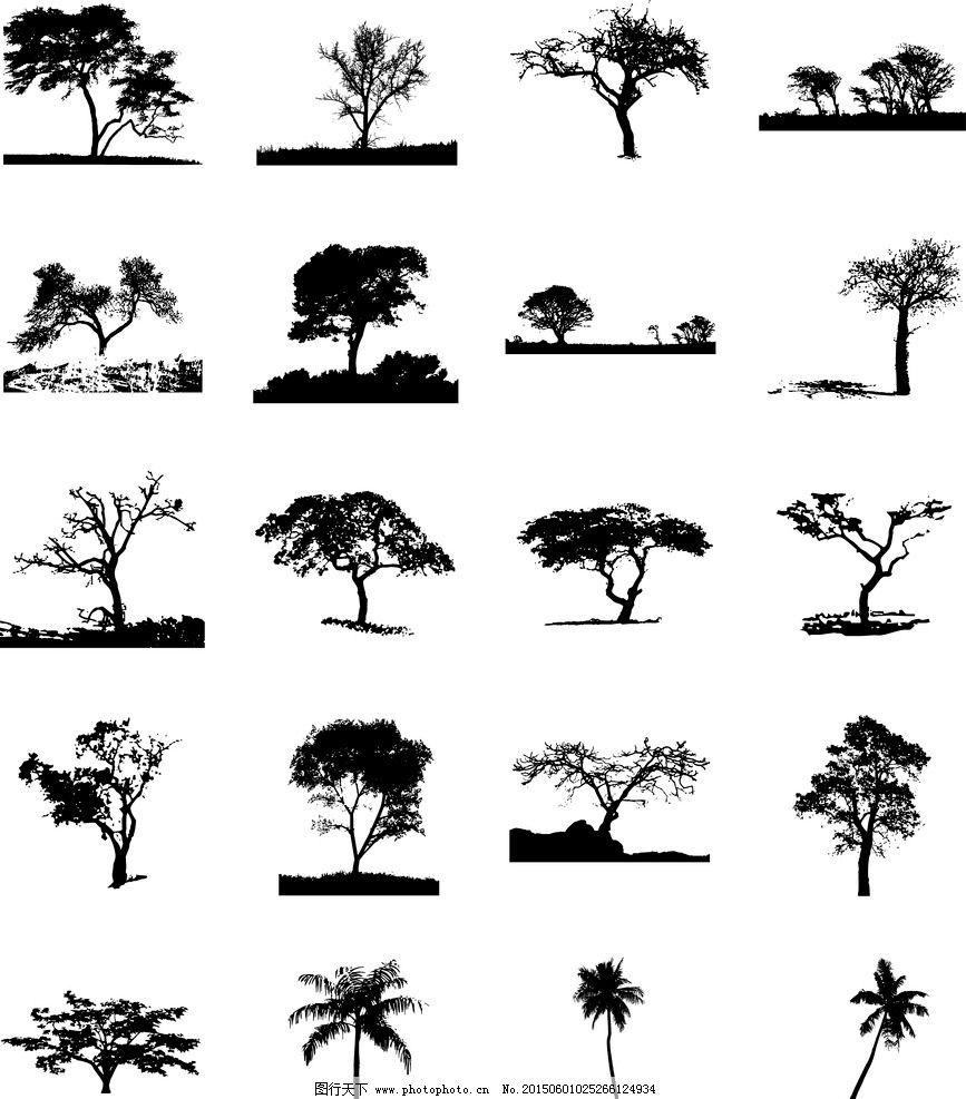 树分层 手绘 装饰画 无框画 欧美风格 装饰墙画 装饰绘画 手绘无框画