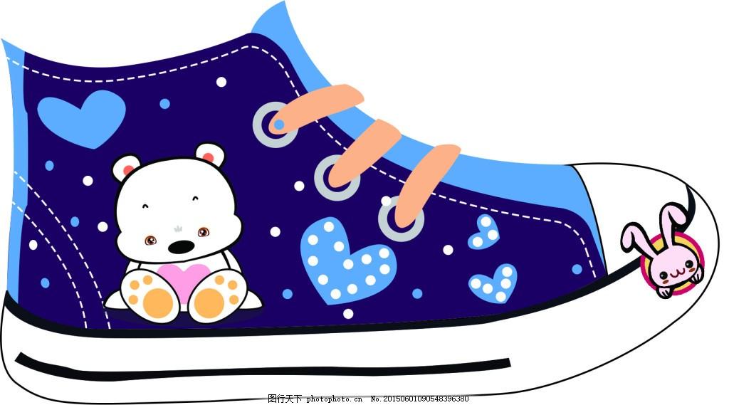 卡通鞋子图片简笔画