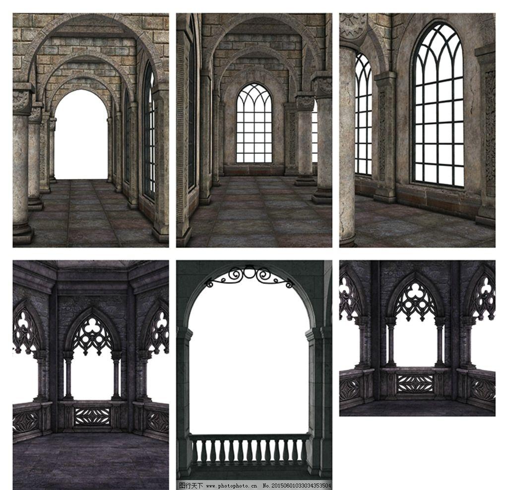 欧式建筑素材 教堂 古堡