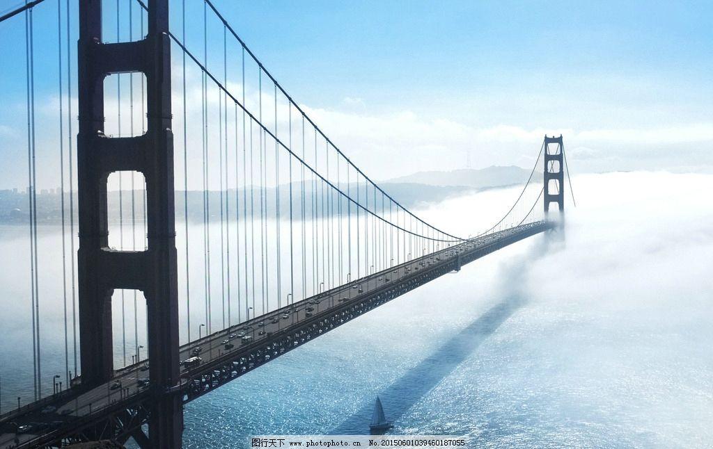 云中的大桥图片