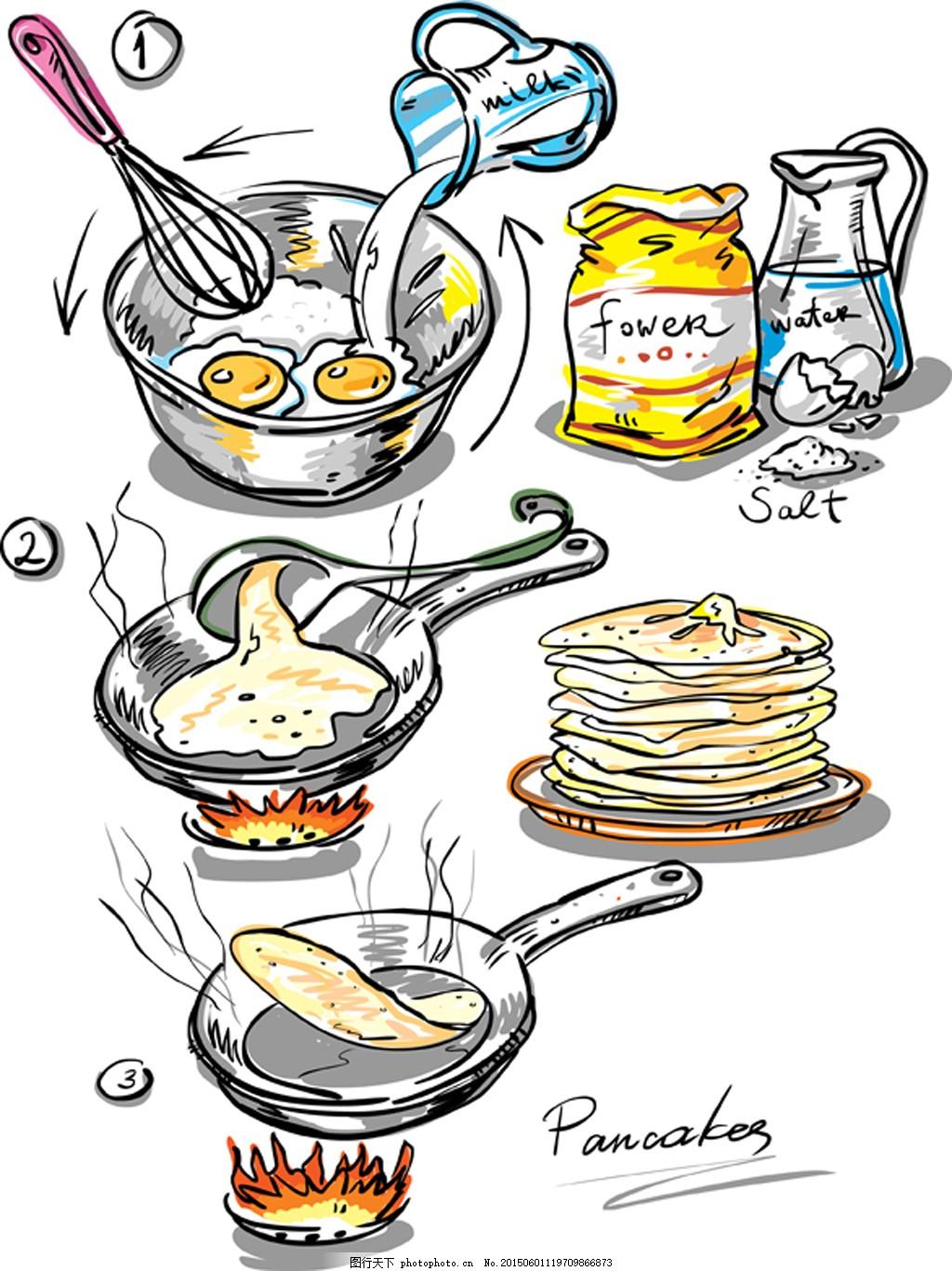 手绘煎饼制作过程