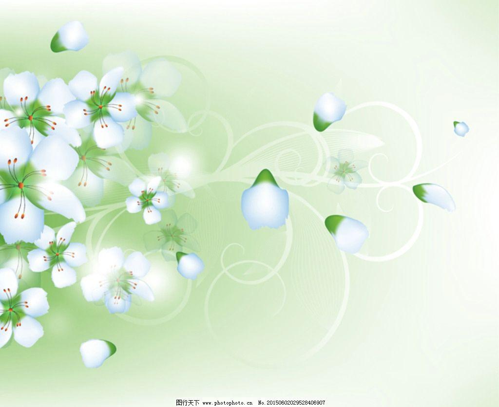 花卉手绘墙壁背景