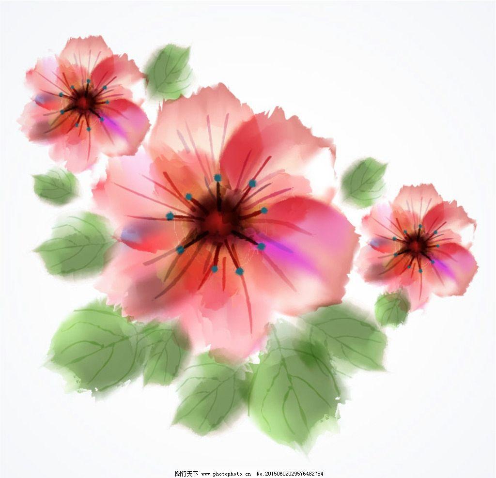 水彩手绘花图片