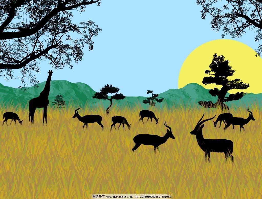 动物免费下载 动物 动物剪影 非洲动物 鹿 动物剪影 动物 鹿 非洲动物