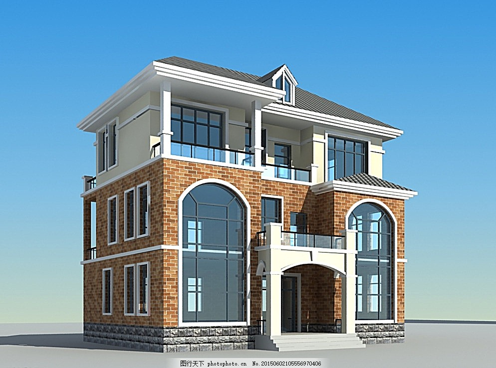 别墅 建筑 室外模型 白色